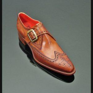 Jeffery West Brilleaux Monk Strap Shoes front
