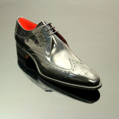 Jeffery West Brilleaux Wing Gibson Black Polish Shoes front