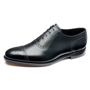 Strand Black Leather Shoes