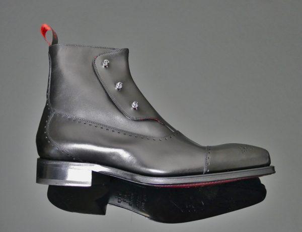 Lugosi Gargoyle Skull Spat Boot Black
